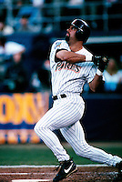 Ken Caminiti of the San Diego Padres participates in the 1998 World Series against the New York Yankees at Qualcomm Stadium in San Diego, California. (Larry Goren/Four Seam Images)