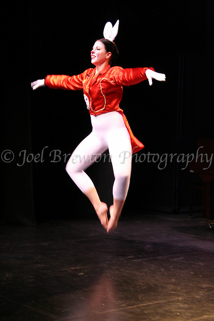 """A ballet performance of """"The White Rabbit"""" from """"Alice in Wonderland"""" at the 2011 Art on the Rox fundraiser held at the Father Ryan Arts Center in McKees Rocks, PA."""
