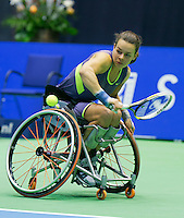 22-12-13,Netherlands, Rotterdam,  Topsportcentrum, Tennis Masters, , , Wheelchair final,   Marjolein Buis(NED)<br /> Photo: Henk Koster