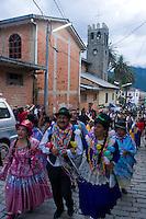 14.02.2010 Coroico(Bolivia)<br /> <br /> Street parade during the carnival.<br /> <br /> Défilé dans les rues pendant le carnaval.