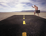 Photograph then on the Playa of the Black Rock Desert in Northen Nevada