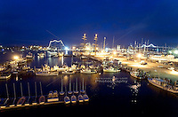 Newport Harbor with Tall Ships