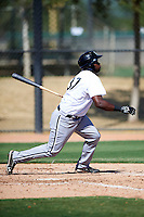 Chicago White Sox minor league outfielder Courtney Hawkins #37 during an instructional league game against the Los Angeles Dodgers at the Camelback Training Complex on October 9, 2012 in Glendale, Arizona.  (Mike Janes/Four Seam Images)