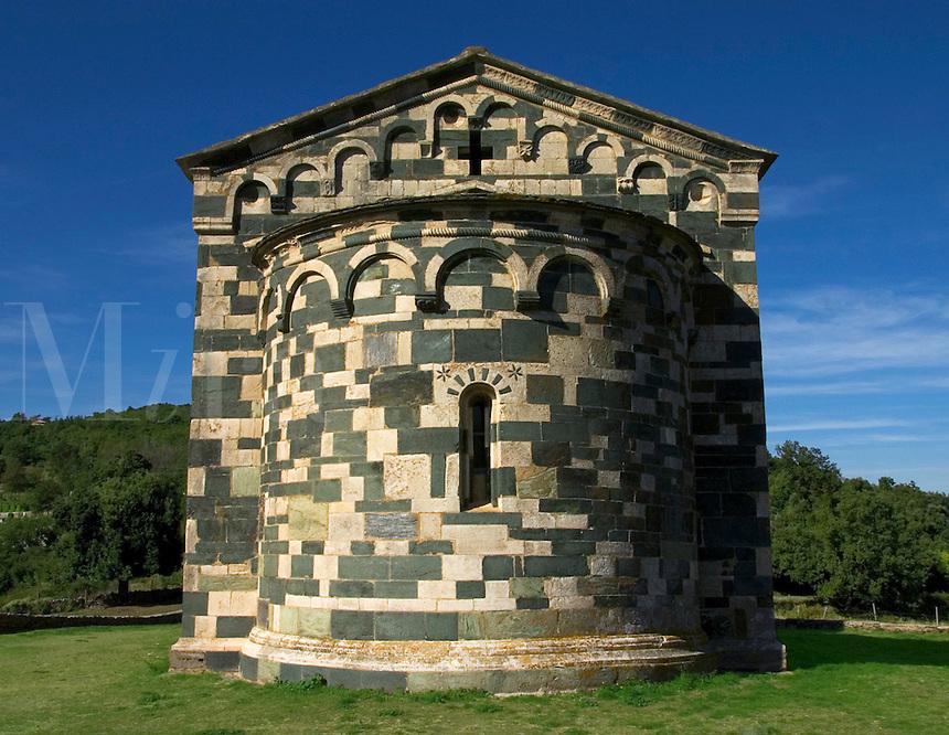 Corsica. Eglise St. Michel at Murato in the Nebbio. 1140 - 1280. France..