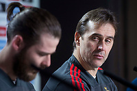Spain David de Gea and coach Julen Lopetegui during press conference the day before Spain and Argentina match at Wanda Metropolitano in Madrid , Spain. March 26, 2018. (ALTERPHOTOS/Borja B.Hojas) /NortePhoto NORTEPHOTOMEXICO