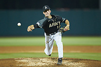 Army Black Knights relief pitcher Harry Flannery Jr. (17) in action against the Auburn Tigers at Doak Field at Dail Park on June 2, 2018 in Raleigh, North Carolina. The Tigers defeated the Black Knights 12-1. (Brian Westerholt/Four Seam Images)