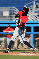 State College Spikes outfielder Mel Rojas Jr. during a game vs. the Batavia Muckdogs at Dwyer Stadium in Batavia, New York August 29, 2010.   Batavia defeated State College 6-4.  Photo By Mike Janes/Four Seam Images
