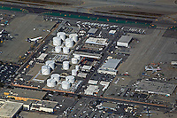 aerial photographs of aviation fuel storage tanks at the Los Angeles International Airport (LAX), Los Angeles, California