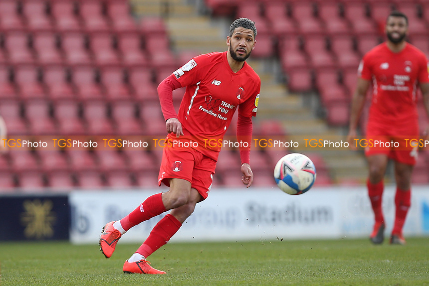Jobi McAnuff of Leyton Orient during Leyton Orient vs Oldham Athletic, Sky Bet EFL League 2 Football at The Breyer Group Stadium on 27th March 2021