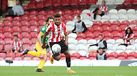 Ollie Watkins of Brentford in action during Brentford vs Preston North End, Sky Bet EFL Championship Football at Griffin Park on 15th July 2020