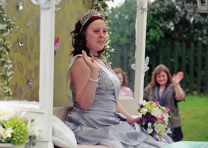 """The Rose Queen of Irchester, Chelsea Daniels.<br /> <br /> """"Only a couple of months and the good weather and good times will be back."""""""