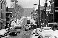 L'Hivers a Montreal, Avril 1973<br /> , Date exacte inconnue,<br /> <br /> Photo : Agence Quebec Presse - Alain Renaud
