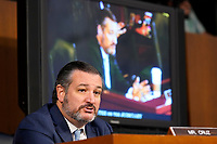 United States Senator Ted Cruz (Republican of Texas), speaks during the Senate Judiciary Committee confirmation hearing for Supreme Court nominee Amy Coney Barrett, Thursday, Oct. 15, 2020, on Capitol Hill in Washington. <br /> Credit: Susan Walsh / Pool via CNP /MdeiaPunch