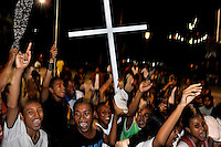 Ambonese Christians celebrate on Easter Sunday in Ambon's main park. The 1999-2002 religious war between Maluku's Christian and Muslim populations, mainly centred on Ambon Island, led to over 5000 deaths and to around 500,000 people become displaced. Destroyed homes and offices, churches and mosques are slowly being either torn-down or renovated.  Urban centres, such as Ambon City, continue to be split along largely sectarian lines, and tensions are never far below the surface. Riots between Christian and Muslim youths erupted in September 2011 and, most recently, June 2012, though luckily simmered down just as quickly, partly due to community leaders learning how to defuse tensions from the earlier, more devastating, conflagration. /Felix Features