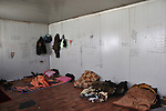 01/07/14  Iraq -- Daquq, Iraq -- The bed room of the peshmerga fighters at the base in Albu Muhamad village, Daquq.