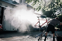 post-race bike cleaning<br /> <br /> 104th Tour de France 2017<br /> Stage 4 - Mondorf-les-Bains › Vittel (203km)