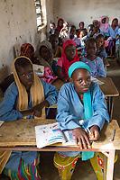 Senegal, Touba.  Students at Al-Azhar Madrasa, a School for Islamic Studies.