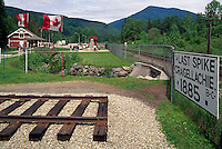 Craigellachie, BC, British Columbia, Canada - Historic Site of the Last Spike driven on Canada's First Trans-Continental Railway (Canadian Pacific Railway / CPR - 1885)