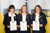 Girls Cricket finalists Imogen Temm, Roseanne Cox & Lucille Matthews. ASB College Sport Young Sportperson of the Year Awards 2008 held at Eden Park, Auckland, on Thursday November 13th, 2008.