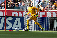 SANDY, UT - JUNE 10: Ethan Horvath #12 of the United States chases down a loose ball during a game between Costa Rica and USMNT at Rio Tinto Stadium on June 10, 2021 in Sandy, Utah.