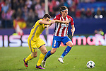 Filipe Luis of Atletico de Madrid battles for the ball with Andrei Prepelita of FC Rostov during their 2016-17 UEFA Champions League match between Atletico Madrid and FC Rostov at the Vicente Calderon Stadium on 01 November 2016 in Madrid, Spain. Photo by Diego Gonzalez Souto / Power Sport Images