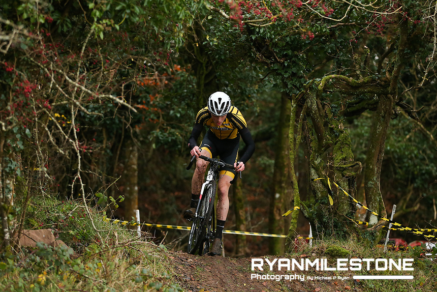 EVENT:<br /> Round 5 of the 2019 Munster CX League<br /> Drombane Cross<br /> Sunday 1st December 2019,<br /> Drombane, Co Tipperary<br /> <br /> CAPTION:<br /> Adam Gilsenan of Bohermeen in action during the U16 Race<br /> <br /> Photo By: Michael P Ryan
