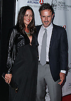 """HOLLYWOOD, LOS ANGELES, CA, USA - APRIL 08: Christina McLarty, David Arquette at the Indian Film Festival Of Los Angeles 2014 - Opening Night Screening Of """"Sold"""" held at ArcLight Cinemas on April 8, 2014 in Hollywood, Los Angeles, California, United States. (Photo by Xavier Collin/Celebrity Monitor)"""