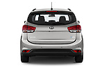 Straight rear view of a 2014 KIA CARENS Lounge 5 Door Mini MPV 2WD Rear View  stock images