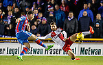 Greg Tansey scores for Inverness as Jon Toral challenges