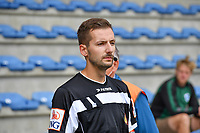 assistant referee Bryan Bijnens pictured during a friendly soccer game between the national teams Under19 Youth teams of Belgium and Germany on tuesday 8 th of September 2020  in Genk , Belgium . PHOTO SPORTPIX.BE | SPP | DAVID CATRY