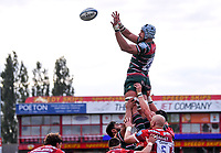 30th August 2020; Kingsholm Stadium, Gloucester, Gloucestershire, England; English Premiership Rugby, Gloucester versus Leicester Tigers; Tomás Lavanini of Leicester Tigers collects the lineout ball
