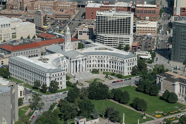 Denver city hall and Civic Center Park. Aug 20, 2014