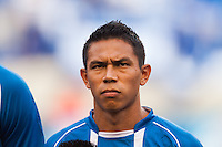 El Salvador midfielder Osael Romero (8) during a CONCACAF Gold Cup group B match at Red Bull Arena in Harrison, NJ, on July 8, 2013.