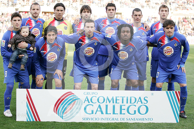 Getafe's team photo during La Liga match. March 11, 2010. (ALTERPHOTOS/Alvaro Hernandez)