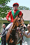 June 03, 2018, CHANTILLY, FRANCE - Waldgeist with Pierre-Charles Boudot up after winning the Grand Prix de Chantilly (Gr. II) at Chantilly Race Course  [Copyright (c) Sandra Scherning/Eclipse Sportswire)]
