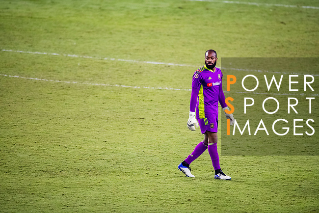 Goalkeeper Kenneth Vermeer of Los Angeles FC (USA) in action during their CONCACAF Champions League Semi Finals match against Club America (MEX) at the Orlando's Exploria Stadium on 19 December 2020, in Florida, USA. Photo by Victor Fraile / Power Sport Images