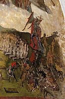 Europe/France/Auvergne/63/Puy-de-Dôme/Issoire: Eglise Saint-Austremoine (Ancien abbatiale XIIème siècle) - Détail d'une peinture du Jugement Dernier
