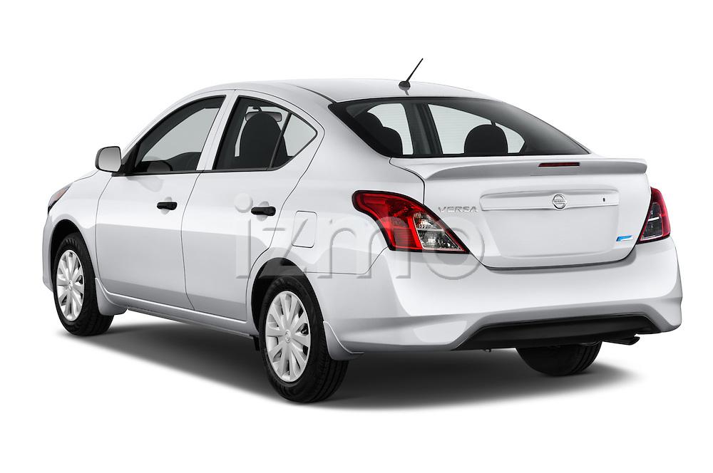 Car pictures of rear three quarter view of a 2015 Nissan Versa 1.6 Sv Cvt 4 Door Sedan angular rear