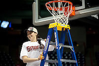 SPOKANE, WA - MARCH 28, 2011: Sara James, Stanford Women's Basketball vs Gonzaga, NCAA West Regional Finals at the Spokane Arena on March 28, 2011.