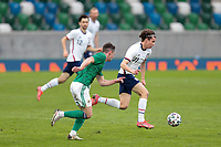BELFAST, NORTHERN IRELAND - MARCH 28: Brenden Aaronson #11 of the United States during a game between Northern Ireland and USMNT at Windsor Park on March 28, 2021 in Belfast, Northern Ireland.