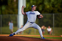 South Dakota State Jackrabbits relief pitcher Brett Mogen (17) during a game against the Northeastern Huskies on February 23, 2019 at North Charlotte Regional Park in Port Charlotte, Florida.  Northeastern defeated South Dakota State 12-9.  (Mike Janes/Four Seam Images)