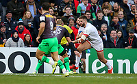 Saturday 7th December 2019   Ulster Rugby vs Harlequins<br /> <br /> Stuart McCloskey during the Heineken Champions Cup Round 3 clash in Pool 3, between Ulster Rugby and Harlequins at Kingspan Stadium, Ravenhill Park, Belfast, Northern Ireland. Photo by John Dickson / DICKSONDIGITAL