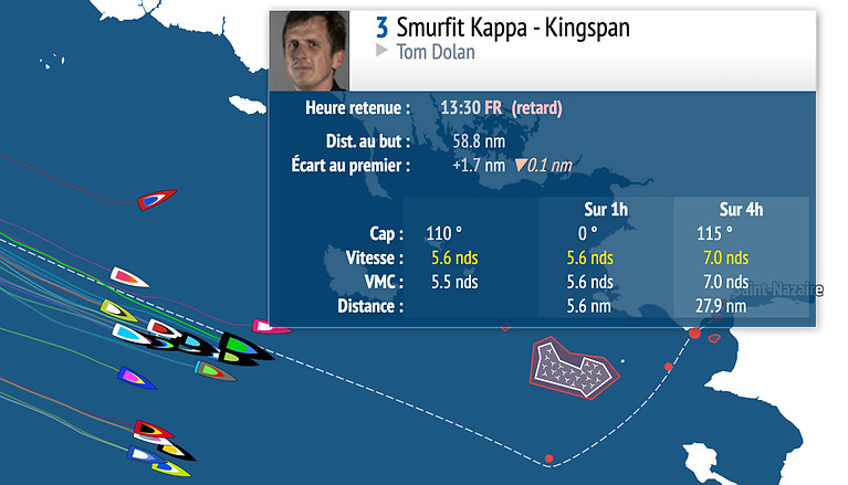Tom Dolan is in third place and vying for a stage four win this lunchtime in the closing stages of the 2021 La Solitaire Du Figaro