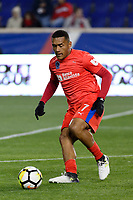 Harrison, NJ - Thursday March 01, 2018: Carlos Will Mejía. The New York Red Bulls defeated C.D. Olimpia 2-0 (3-1 on aggregate) during a 2018 CONCACAF Champions League Round of 16 match at Red Bull Arena.