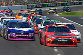 2017 NASCAR Xfinity Series<br /> My Bariatric Solutions 300<br /> Texas Motor Speedway, Fort Worth, TX USA<br /> Saturday 8 April 2017<br /> Erik Jones, Game Stop/ GAEMS Toyota Camry, Ryan Blaney and Darrell Wallace Jr<br /> World Copyright: Russell LaBounty/LAT Images<br /> ref: Digital Image 17TEX1rl_3654