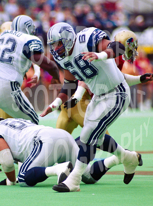 Shahriar Pourdanesh Baltimore Stallions 1994. Photo John Bradley
