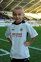 ATTENTION SPORTS PICTURE DESK<br /> Pictured: Swansea City mascot<br /> Re: Coca Cola Championship, Swansea City Football Club v Nottingham Forest at the Liberty Stadium, Swansea, south Wales. Saturday 12 December 2009