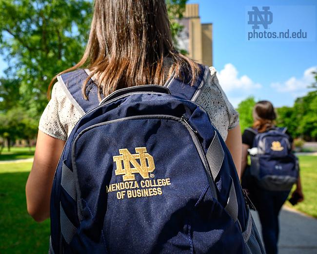 June 11, 2021; MBA Campus tour (Photo by Matt Cashore/University of Notre Dame)