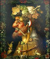 Francia - Parigi - museo del  Louvre - Giuseppe Arcimboldo Milano 1527 - 1593 L'Autunno.serie delle Quattro Stagioni ordinata dall'Imperatore massimiliano II di Asburgo per essere offerta all'elettore Augusto di Sassonia nel 1573