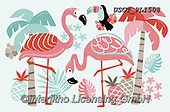 Lamont, GIFT WRAPS, GESCHENKPAPIER, PAPEL DE REGALO, paintings+++++,USGTPL1508,#gp#, EVERYDAY ,notebook,notebooks ,flamingo,flamingos ,sticker,stickers